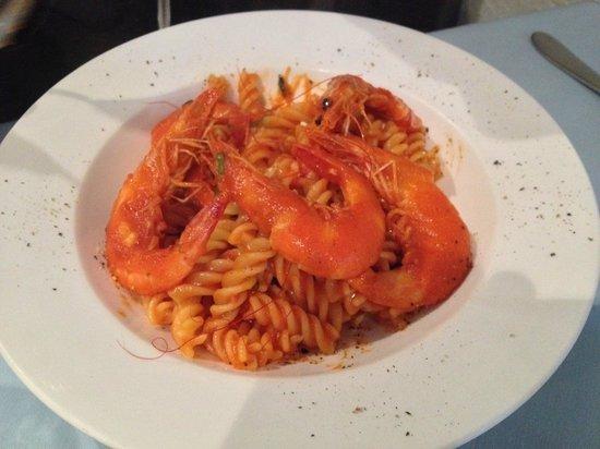 Al Vicolo: Prawn pasta