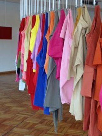 Casa Do Baile: art installation with T-shirts