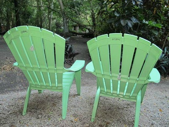 Dolphin Bay Divers Retreat: Chairs outside bure