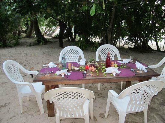 Dolphin Bay Divers Retreat: Dining outdoors