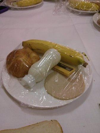 Euro Queens Hotel: meat foam, unlabelled drink ...breakfast?