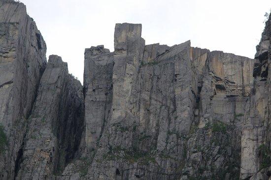 Pulpit Rock: Preikestolen picture taken from the Lysefjord