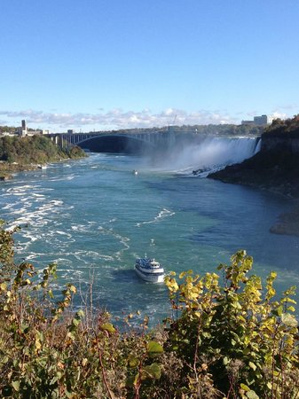 Chariots of Fire Ltd.: View of Lady of the Mist from top of the falls