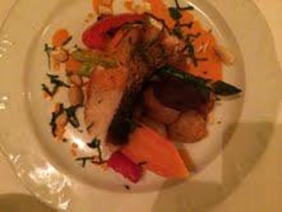 Stories Fine Dining: Roasted Strped Bass, Stories, Halifax, Nova Scotia