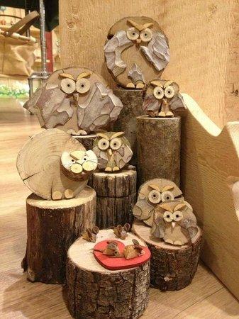 Terra Umbra: #Gufi da collezione in legno di recupero