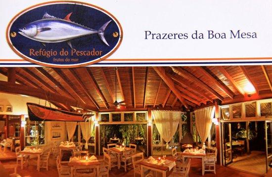 Folder do Restaurante - Foto de Refúgio do Pescador b0646814026