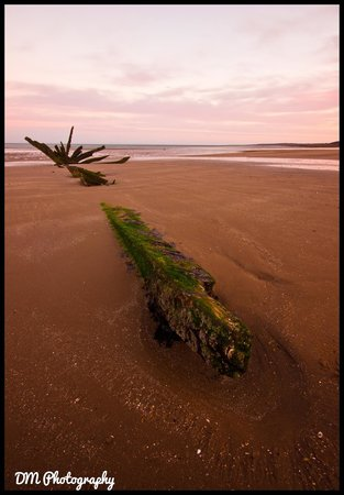 Seton Sands Holiday Park - Haven: Shipwreck at Seton Sands, shot at Sunrise
