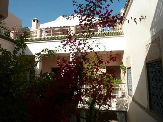 Riad Oasissime : view from the groundfloor