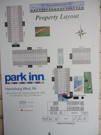 Park Inn by Radisson Harrisburg West: Hotel grounds map