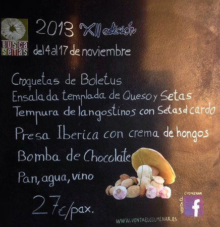 Venta El Colmenar: Menú Buscasetas Castilla y León