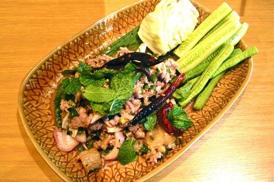 Soul Food Mahanakorn : pork eggplant larb