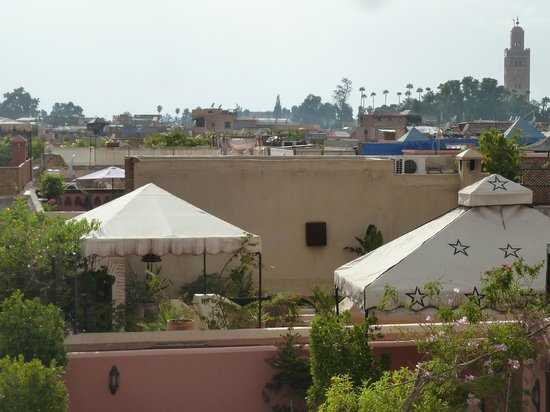 Riad Itrane : looking out from the terrace