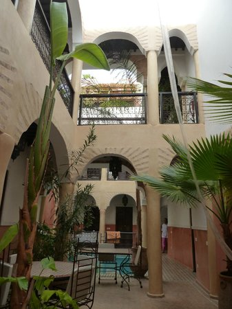 Riad Itrane : view from the dining area