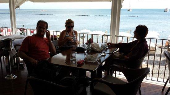 Restaurant Marina Grande: Posição privilegiada da nossa mesa