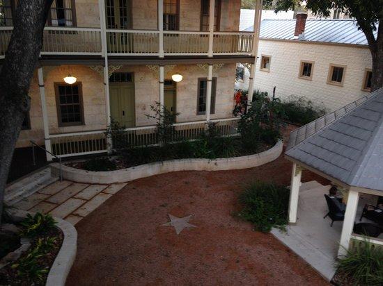 Hotel Faust courtyard and gazebo