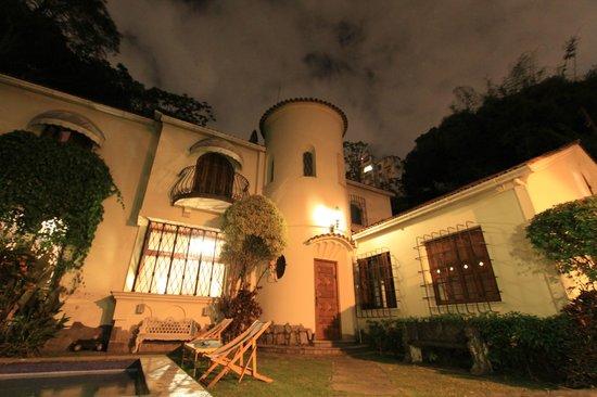Outside of Casa Beleza at night