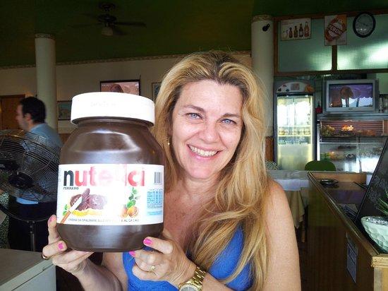 Ristorante Stelluccia: Minha amiga se encantou pelo pote de Nutella