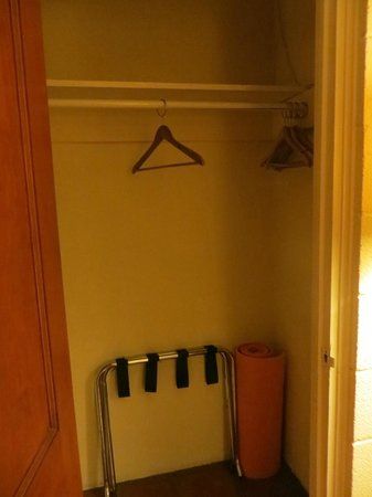 Santa Fe Motel & Inn: Room #2 - closet - yoga mat - love!