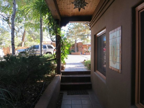Santa Fe Motel and Inn: Room #2 - View from front door