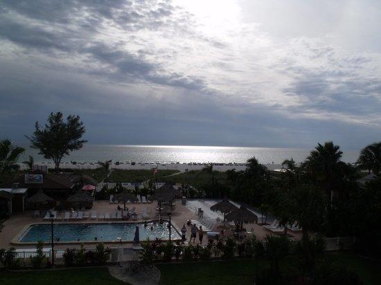 Howard Johnson Resort Hotel - ST. Pete Beach FL: Sunset on a cloudy evening.