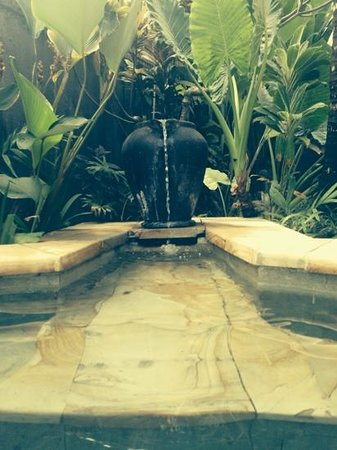 Villa Seminyak Estate & Spa: jacuzzi fountain! beautiful!!
