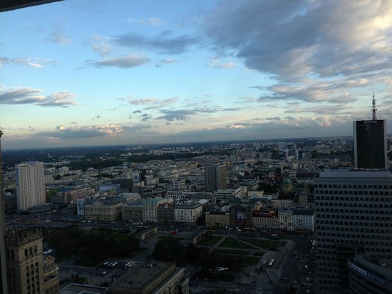 InterContinental Warszawa: View from our room on the 36th floor.