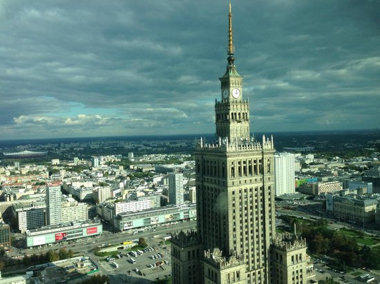 InterContinental Warszawa: View from the swimming floor on the top floor.