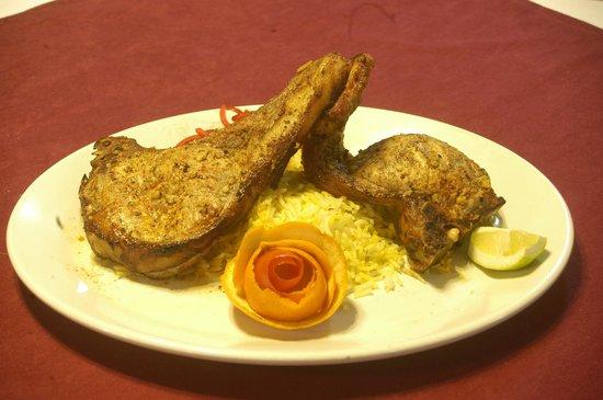 Saffron : Best Tandoori pork chops ever