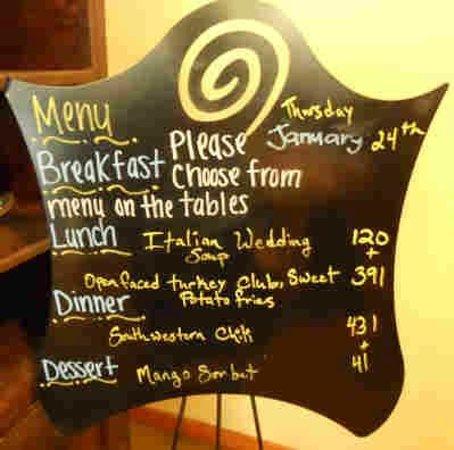 Wellfit Malibu : Here's a sample menu of the day