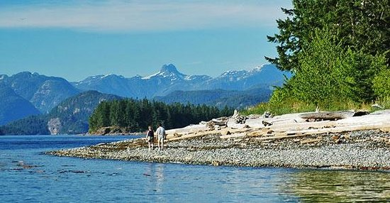 Quathiaski Cove, Canada: Rebecca Spit, Quadra Island, Discovery Islands, British Columbia