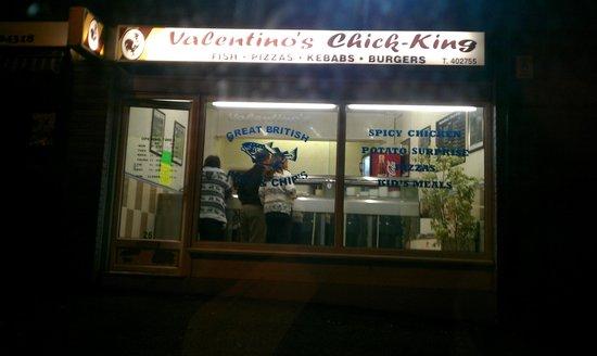 Valentinos Chick King: Valentino's fried chicken Elburton