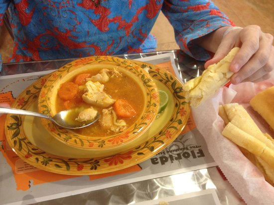 Enriqueta's Sandwich Shop: chicken soup with a side of cuban bread