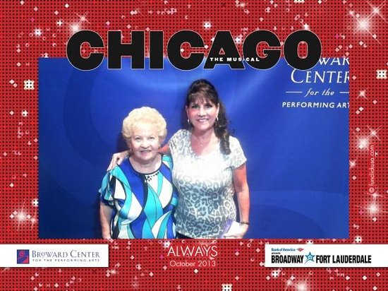 Broward Center for the Performing Arts: Mom and I at Broward Center