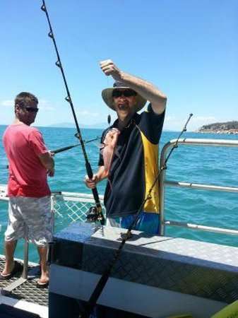 Magnetic Seafaries  Tours: Steve's caught lunch!