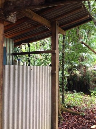 The Kebun: outdoor shower. lovely.