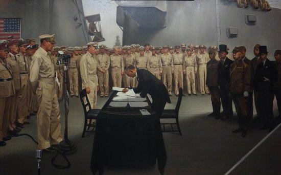 MacArthur Memorial : The Surrender of Japan Painting