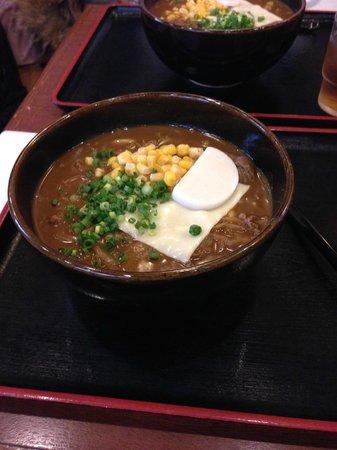 Konpira-chaya: カレーうどん(チーズ)