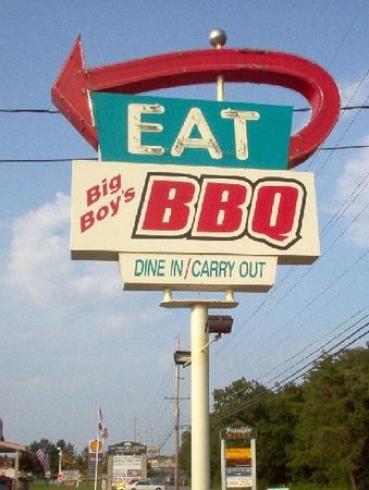 Big Boy's Barbeque: This sign started at a diner in Southern Illinois