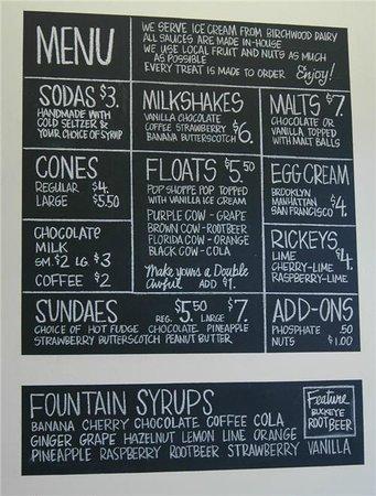 soda fountain menu photo kerry hall glenburn soda