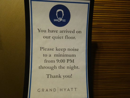 Grand Hyatt San Francisco: Quiet floor - 26th