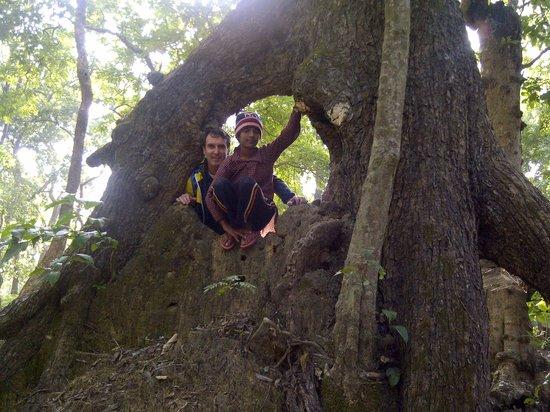 Nature Safari Resort & Lodge: Sangita and John after a White Rhino close encounter