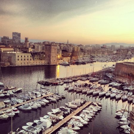Sofitel Marseille Vieux-Port: The view. Old Port. Morning