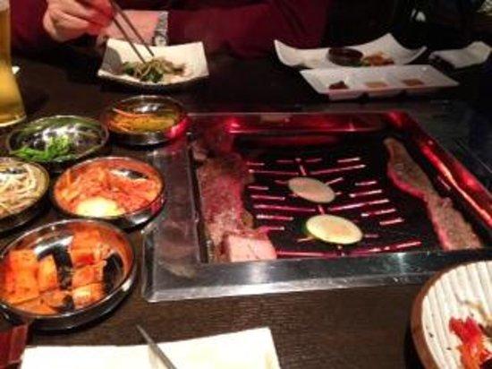 cooking at your table picture of kalbi korean bbq sushi london rh tripadvisor co uk