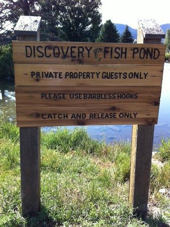 Discovery Lodge: Catch and release fishing pond