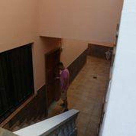 Paradise Court Aparthotel : входная дверка, жили внизу, было прохладно и хорошо