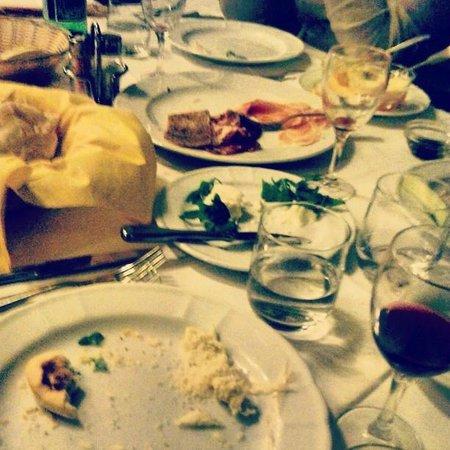 L'Osteria di via Giardini : quello che ne restava delle cose da mangiare..