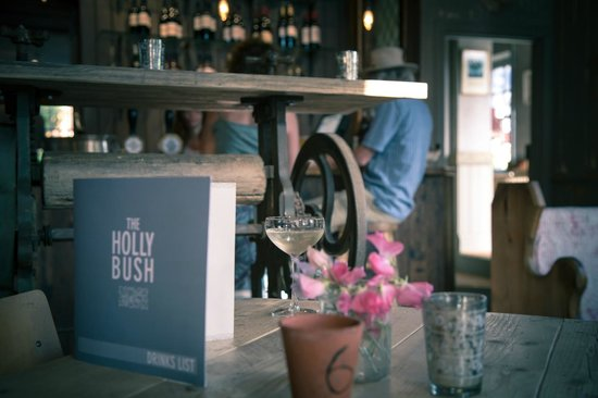 The Holly Bush pub: Enjoy a cold glass of bubbly