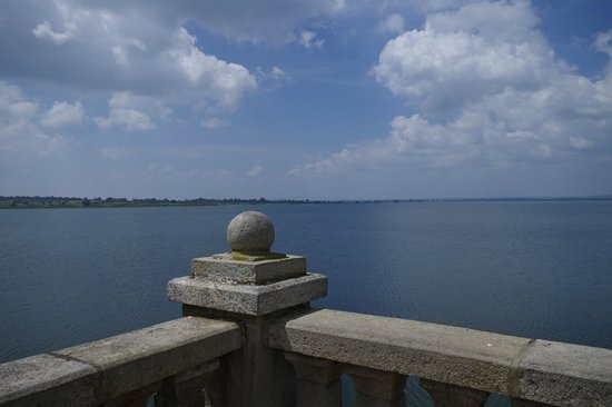 From Kabini dam overlooking the water