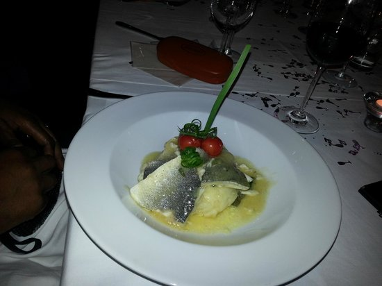Ayanna's London: Seamed Sea Bass with mash and spinach..