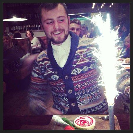 Fazenda Rodizio Bar & Grill: Birthday dessert x :-)